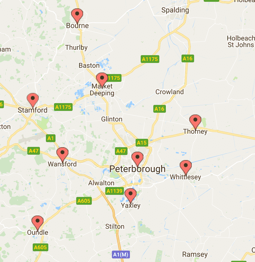 areas covered peterborough locksmiths